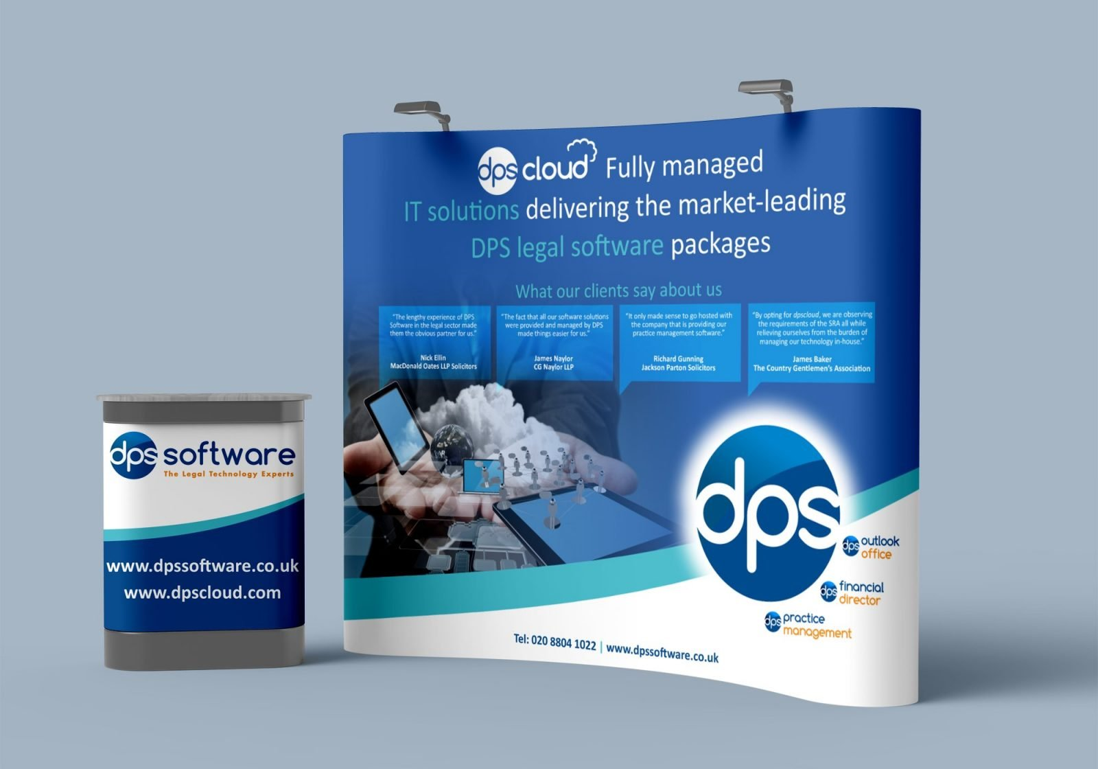 An exhibition stand design for DPS Software