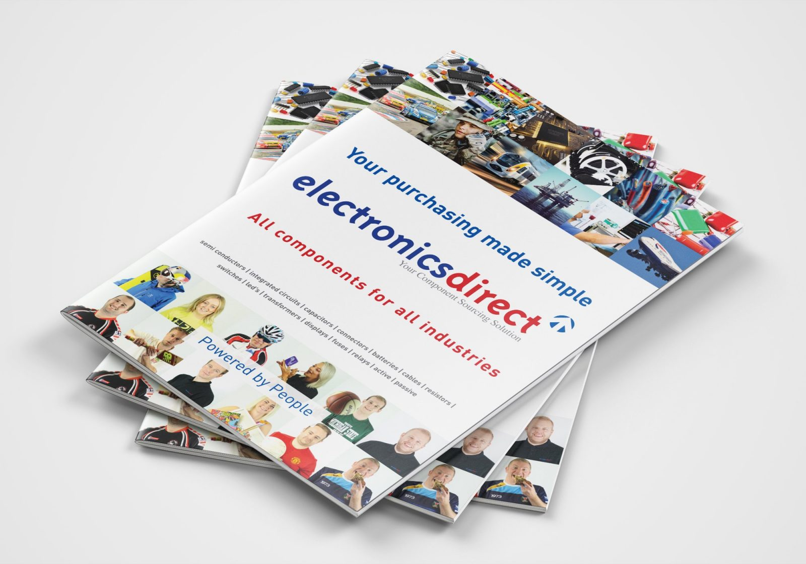 A4 Brochure for Electronics Direct showing the front cover