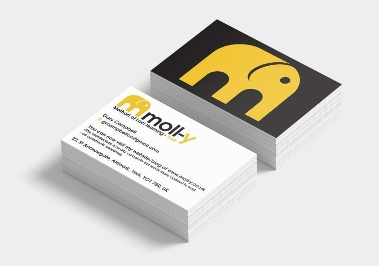 Front and back for a business card design for Gary Cambell