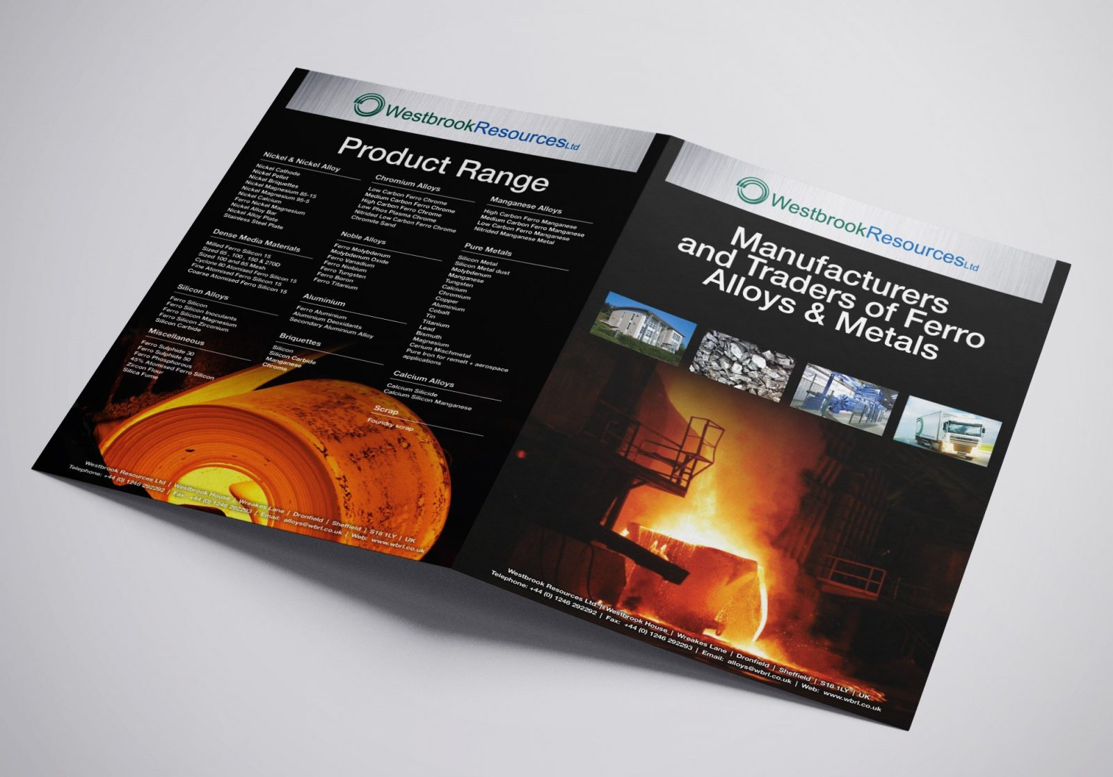 A4 Brochure for Westbrook Resources Ltd showing front and back pages