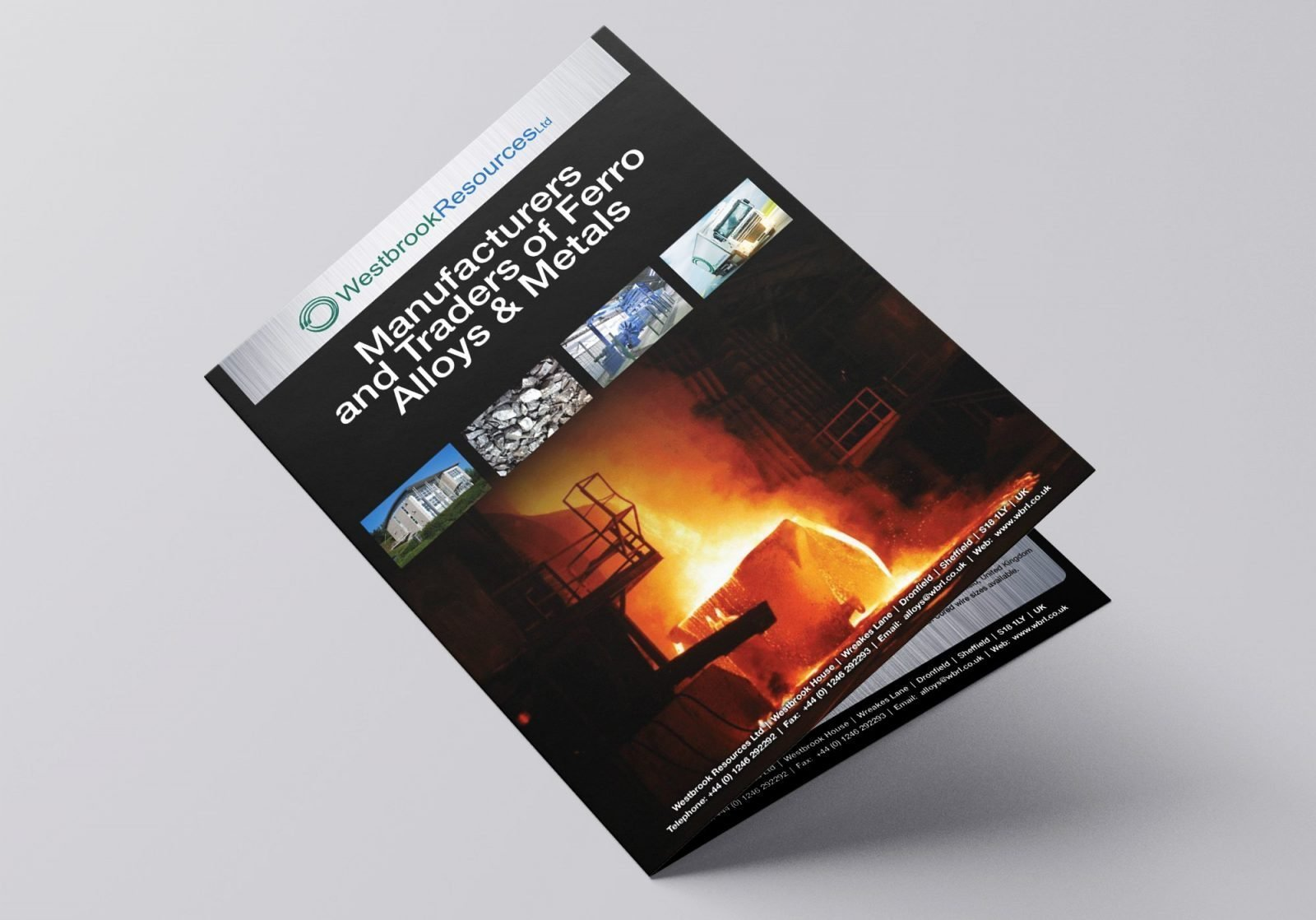 A4 Brochure for Westbrook Resources showing front cover